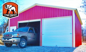 Fully Enclosed Steel Garages Available from Elephant Structures