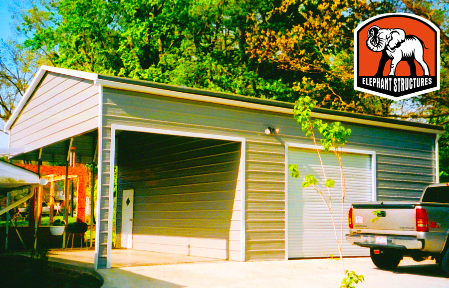 Metal garage kit carport blogcarport blog a metal garage kit you can assemble yourself solutioingenieria Choice Image