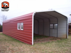 Metal Building Carport from Elephant Structures