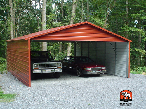 Carport Garage Kits : Two car garage kit carport