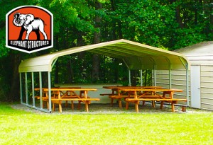Building Safety Month with a carport