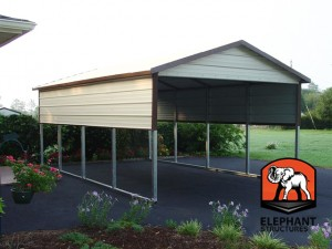 carport with halfwalls
