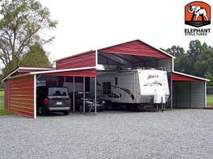 carport upgraded to barn