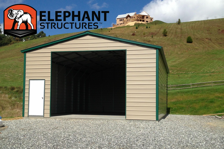 enclosed carport from carportcom