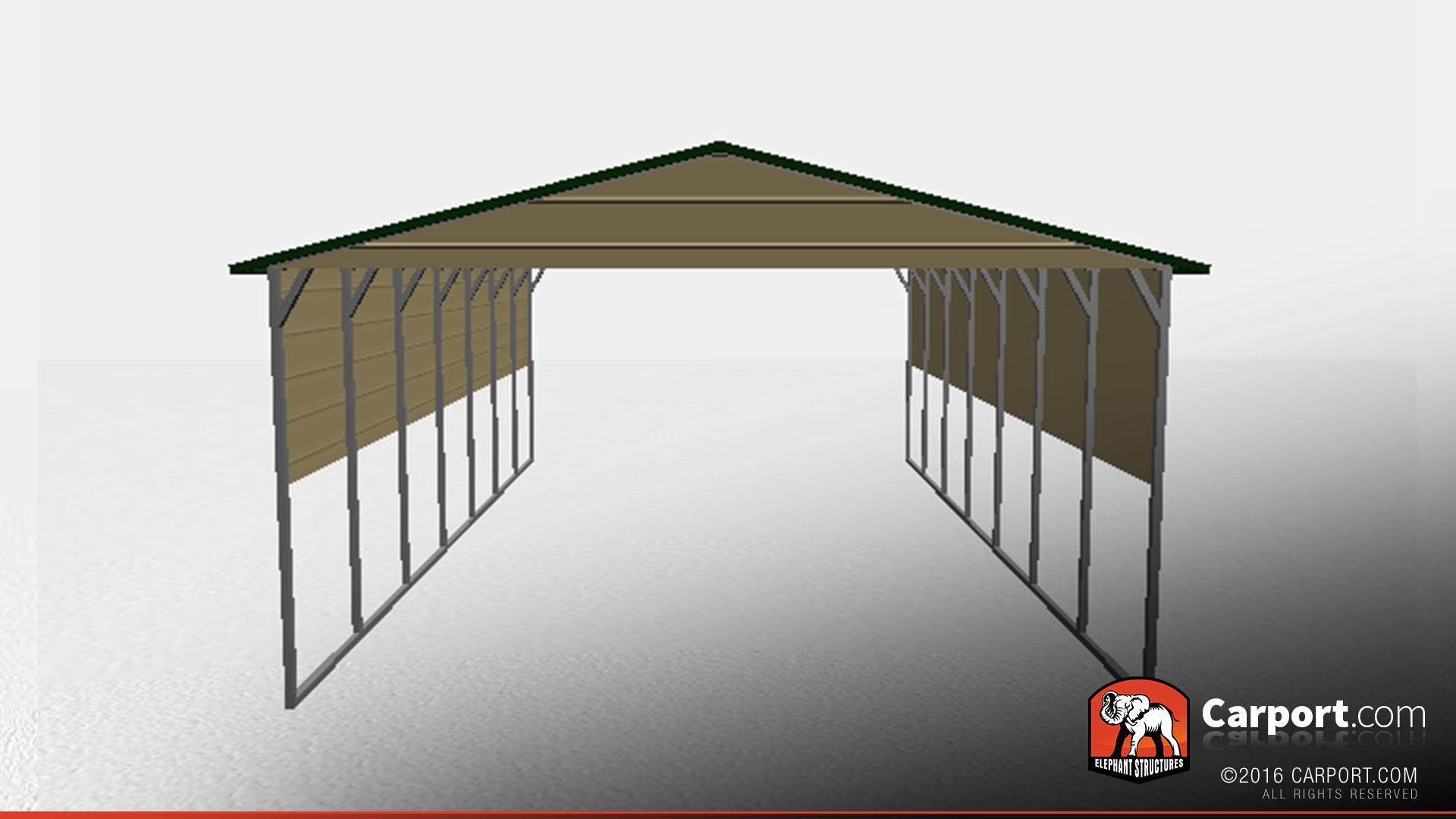 10 10 Metal Carport : Boxed eave metal carport carports info