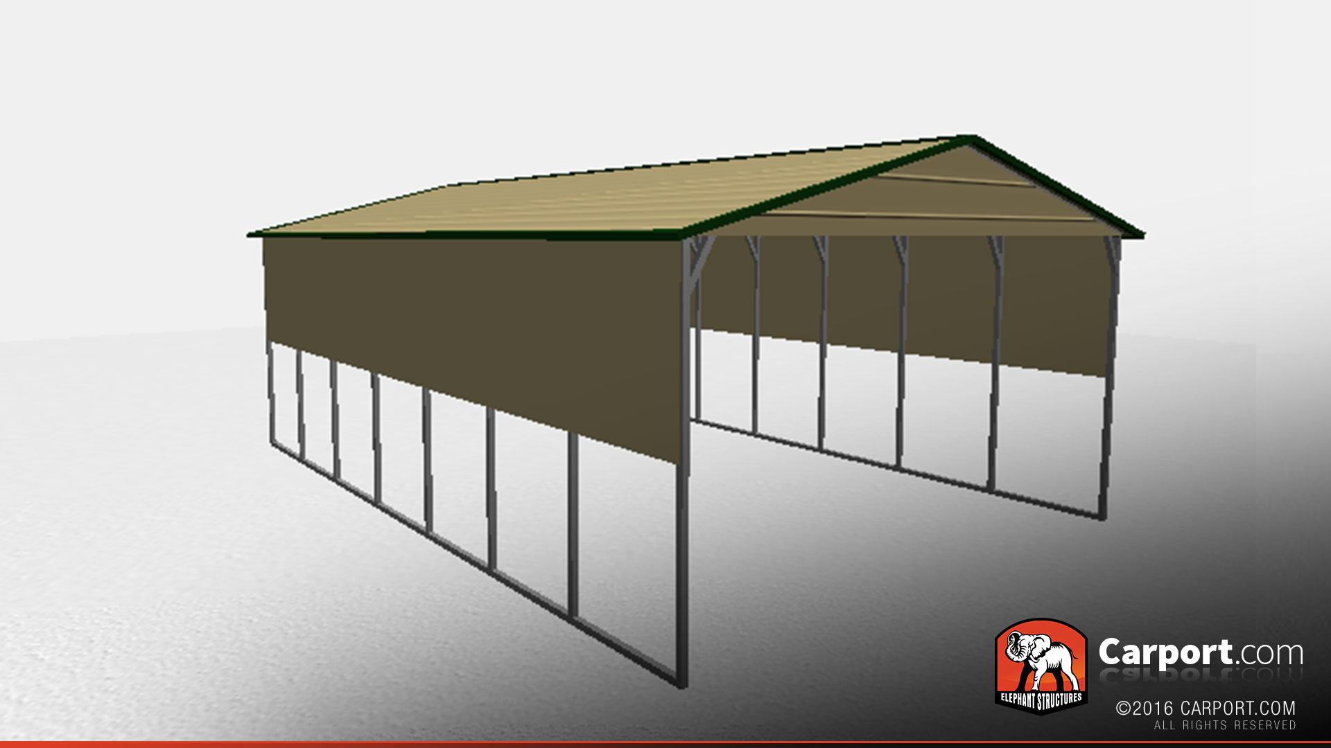 20 39 x 30 39 x 10 39 boxed eave metal carport metal carports info for 20x30 garage kit