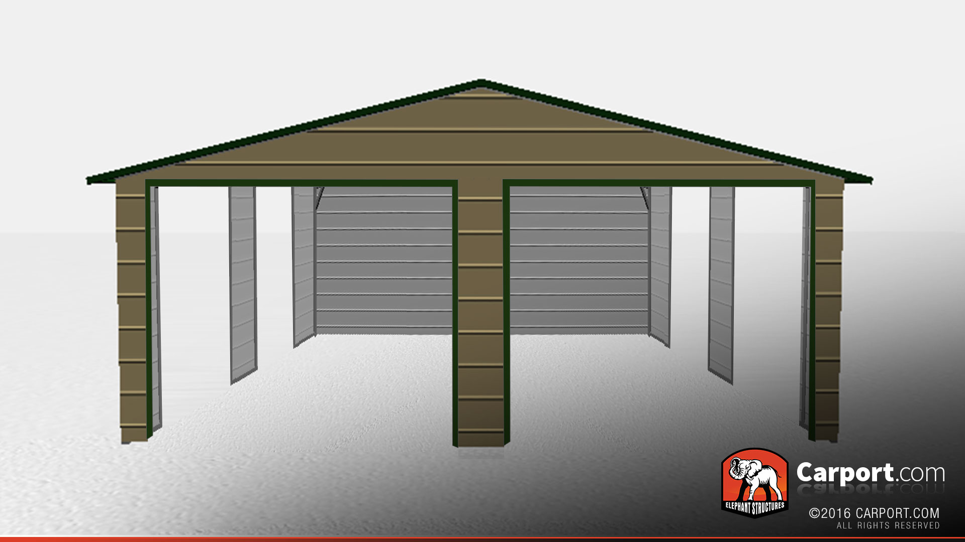 Metal Vehicle Shelters : Metal car shelter with gables shop
