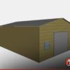 Two Car Metal Garage Workshop 24x31x10