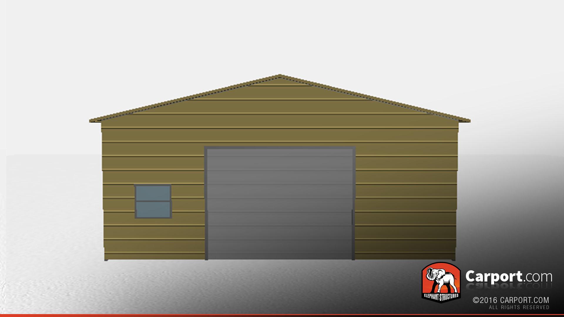 Two Car Metal Garage Workshop Clearance 24 X 31 X 12