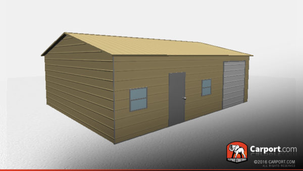 24x31 Metal Garage with Side Access 3