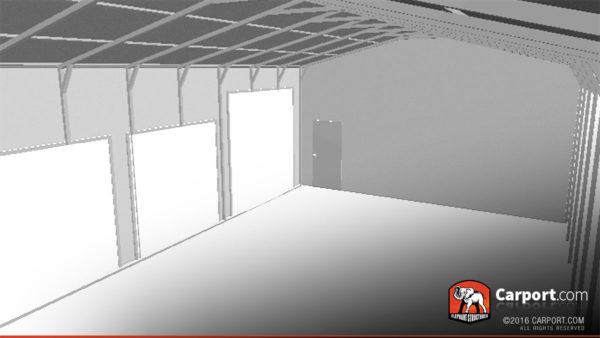 24x41 Steel Garage with 4 Doors 5