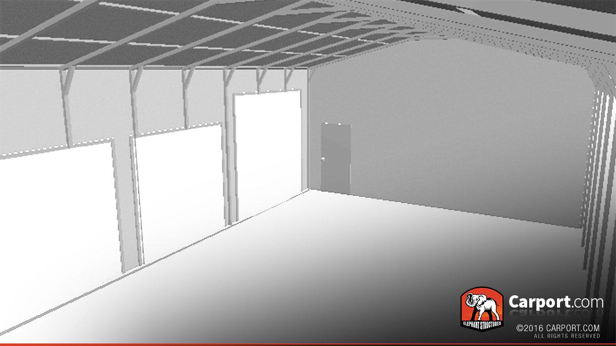 Steel Garage With 4 Doors 24 X 41 Shop Metal Garages