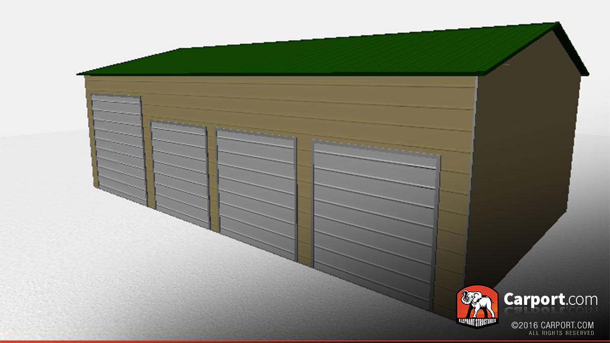 Steel garage with 4 doors 24 x 41 shop metal garages online 24x41 steel garage with 4 doors 3 rubansaba