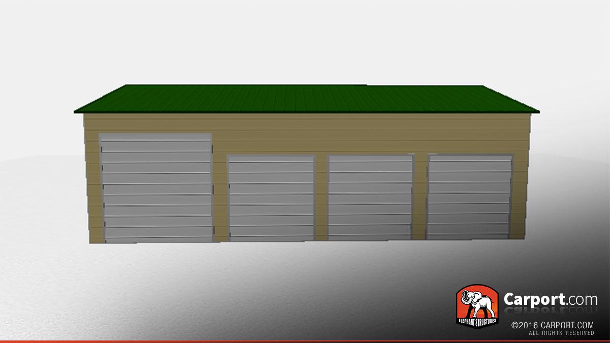 24x41 Steel Garage with 4 Doors & Steel Garage with 4 Doors 24u0027 x 41u0027 | Shop Metal Garages Online!