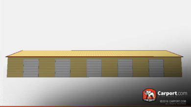 vertical style metal storage building