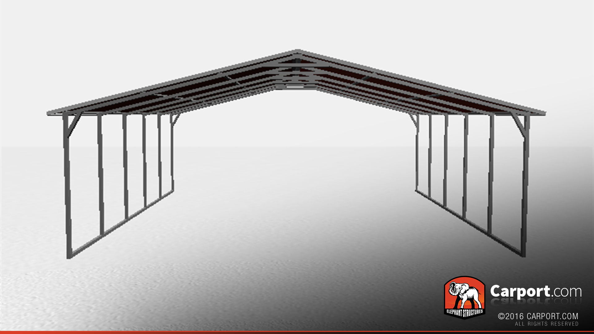 26 X 21 Metal Car Shelter For Two Cars Shop Metal Buildings