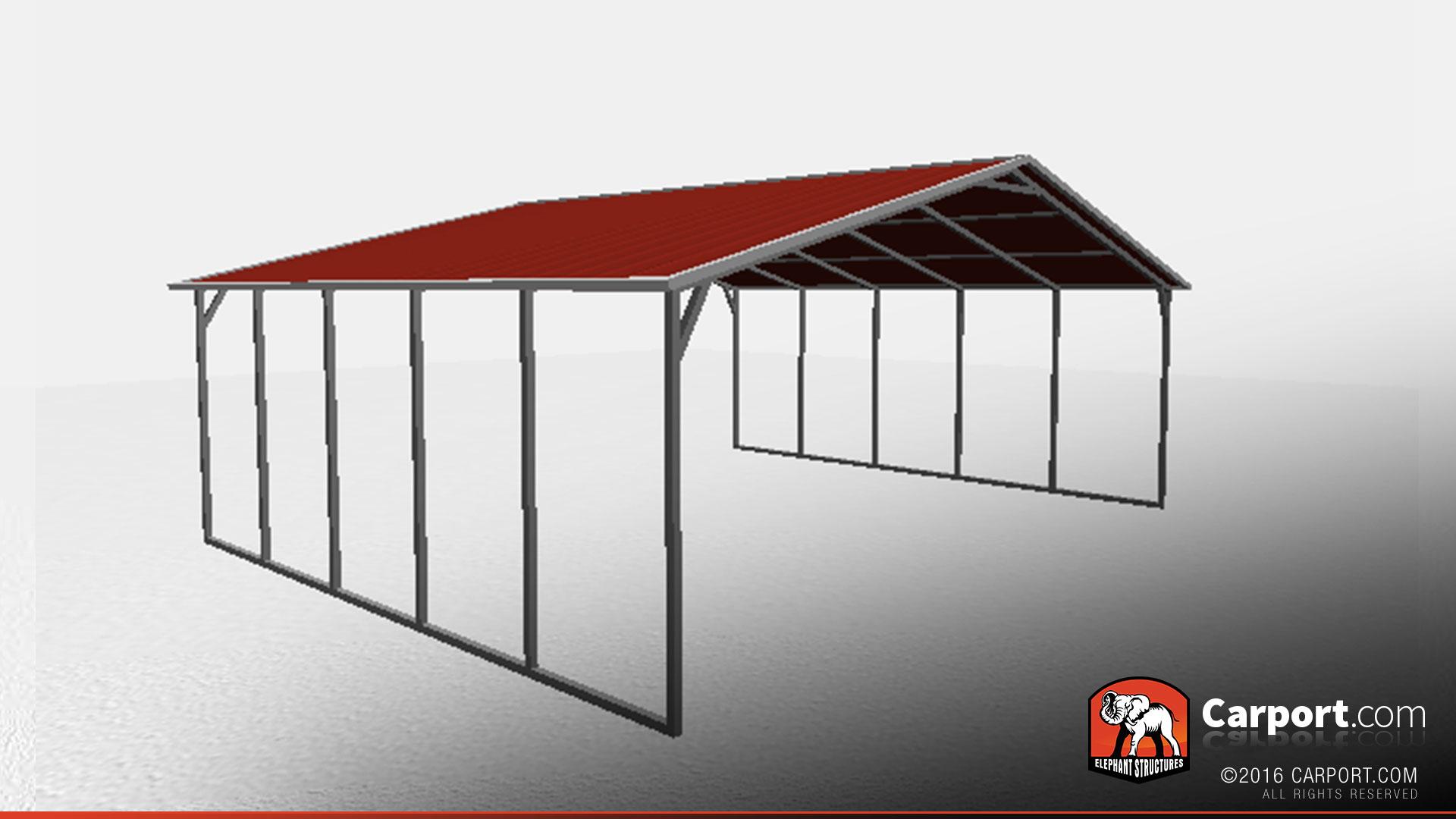 Car Shelter Building : Metal car shelter for two cars shop