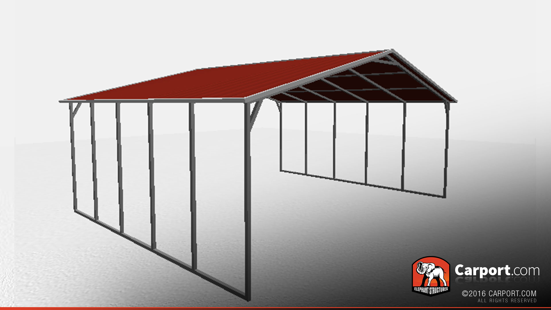 26 39 x 21 39 triple wide open steel carport shop metal buildings online. Black Bedroom Furniture Sets. Home Design Ideas