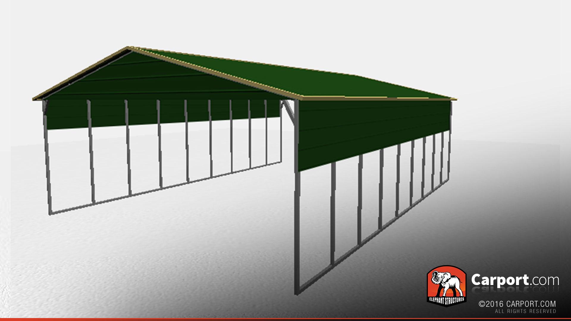 26' x 36' Vertical Style Commercial Metal Carport ...