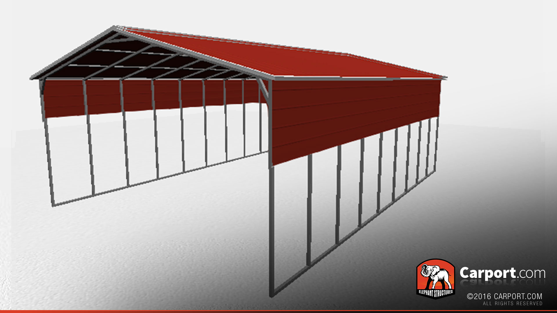 Bass Boat Shelters : Metal boat shelter with vertical roof