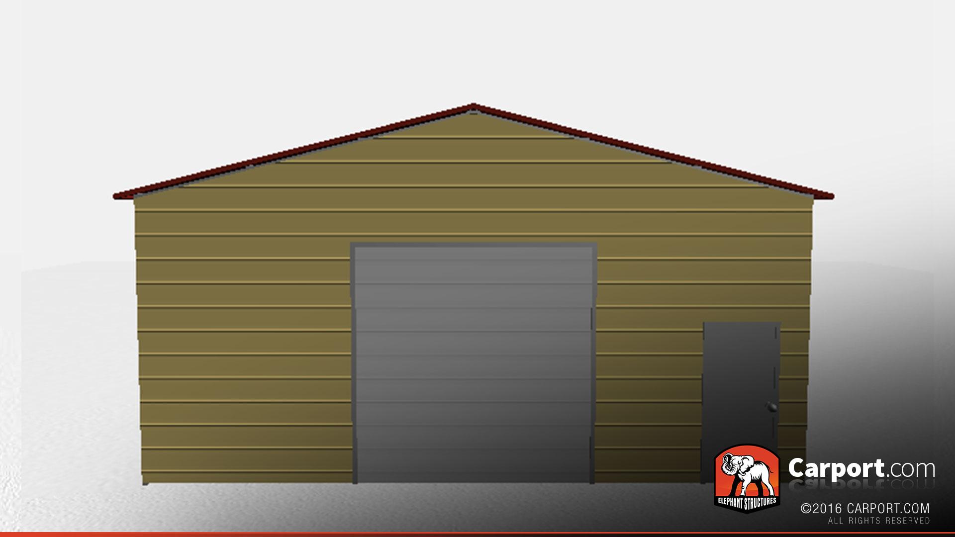 28 X 50 Durable Metal Warehouse Building Vertical Style Metal Buildings