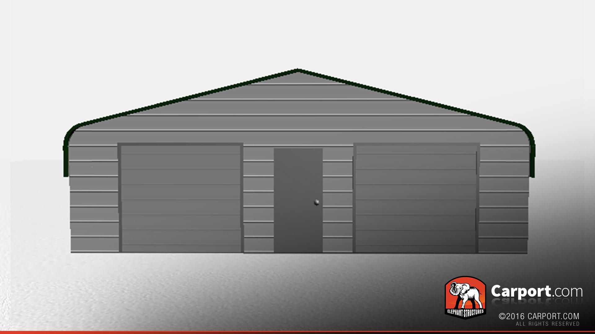 30 39 x 21 39 x 8 39 three car metal building garage three car for Metal 3 car garage