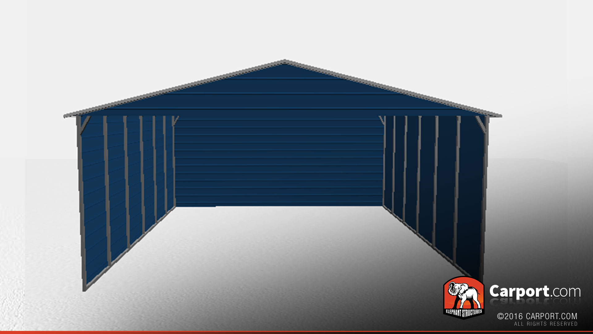 30\' x 30\' Boxed Eave Commercial Steel Carport   Commercial Carports