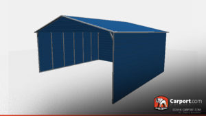 boxed eave commercial steel carport