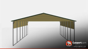 30 x 40 boxed eave metal carport