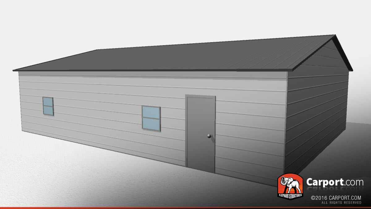 Two car garage 30 39 x 40 39 x 9 39 vertical roof shop metal for 30 x 40 carport