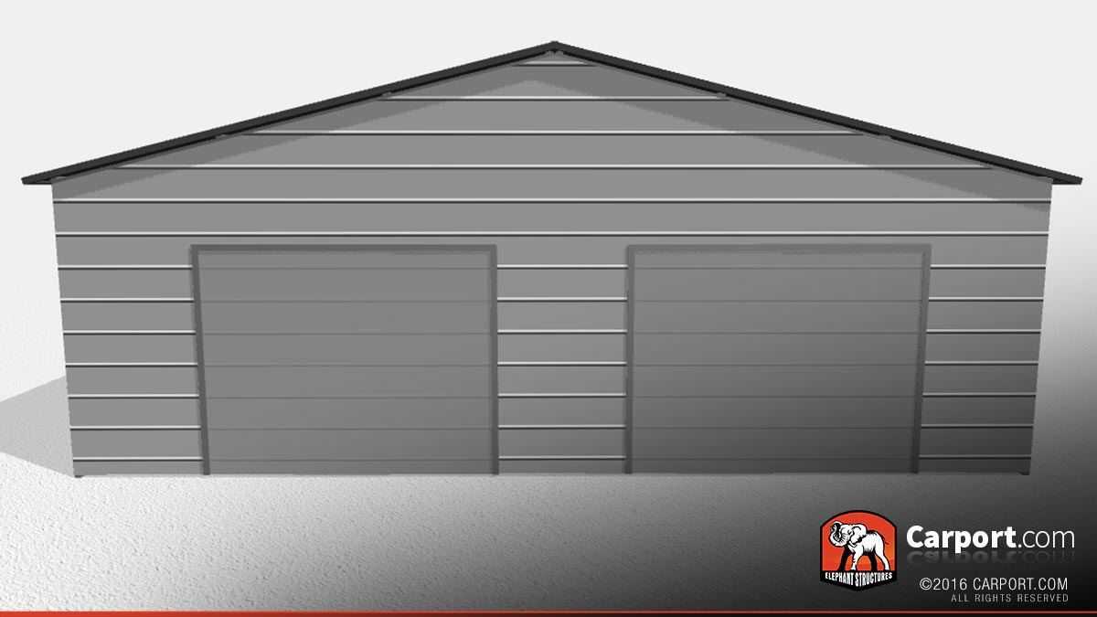 Double car metal garage home desain 2018 for Multi car garage