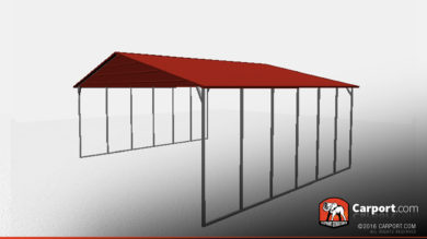 triple wide steel carport shelter 3 car carport