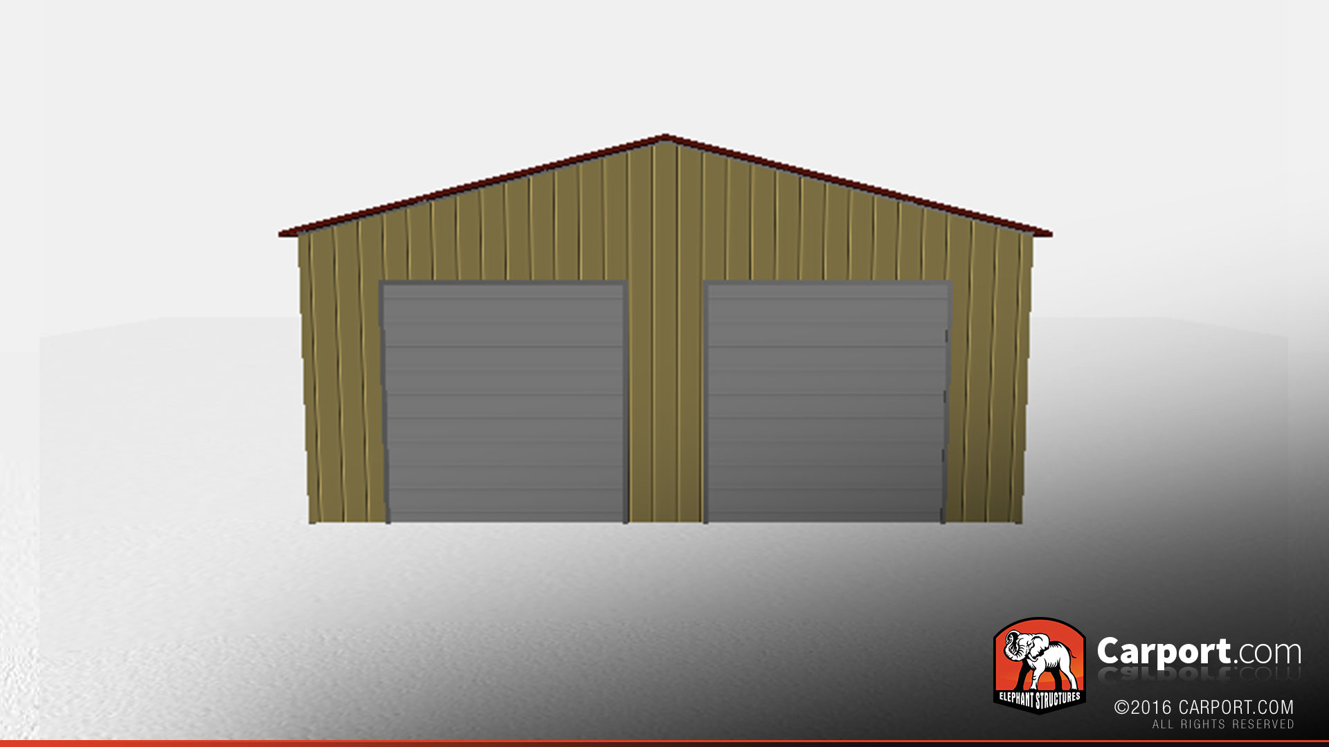 30 39 x 50 39 metal warehouse with two garage doors for Miroir 30 x 50