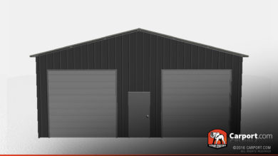 30x51 Storage Building with 2 Garage Doors