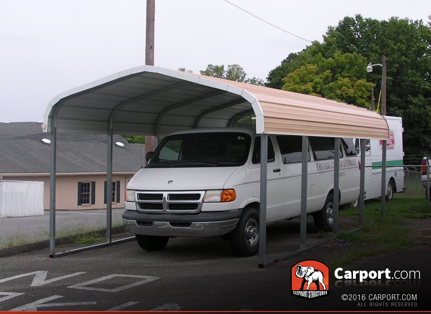 One car carport 12x21 regular roof get metal carport pricing for Single car carport dimensions