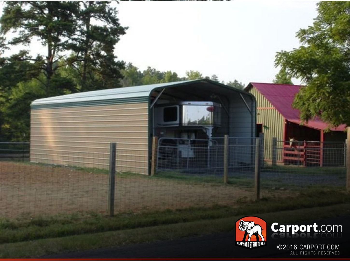 Rv Cover 12 X 31 With Strong Metal Roof Shop Metal Buildings Online