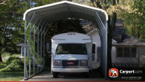 12x31 RV Cover with White Vertical Roof
