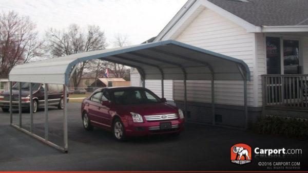 18x21 Two Car Carport Regular Style