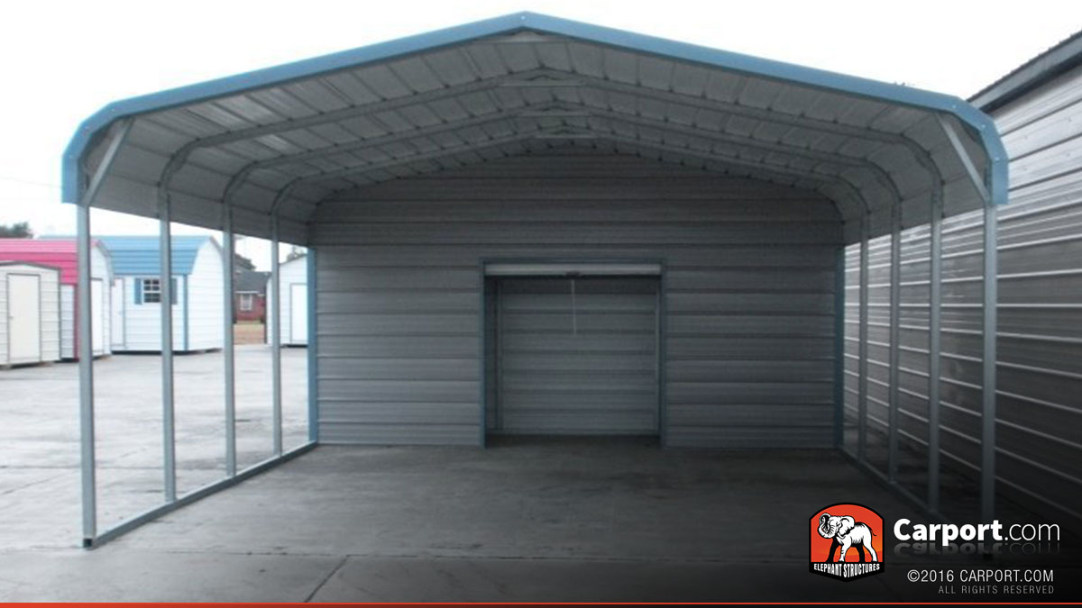 2 car carport 18 39 x 26 39 with utility shed shop metal. Black Bedroom Furniture Sets. Home Design Ideas
