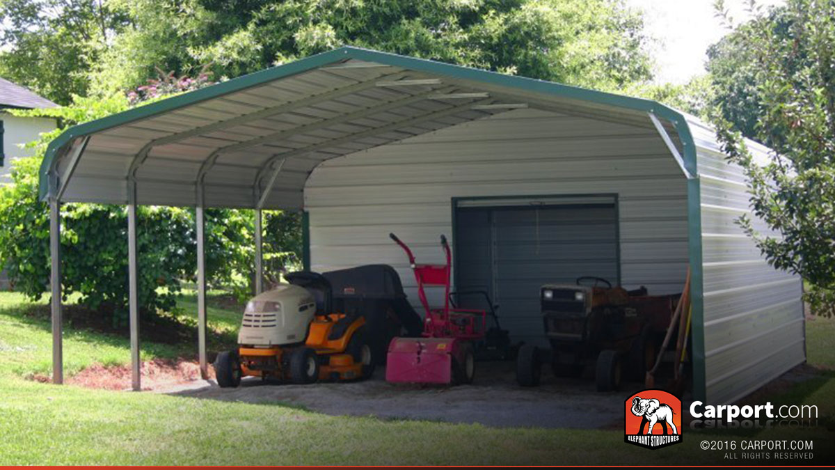 Two car carport double wide 18 39 x 26 39 shop metal for Carport width