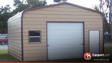 18x21 Metal Garage with Regular Roof