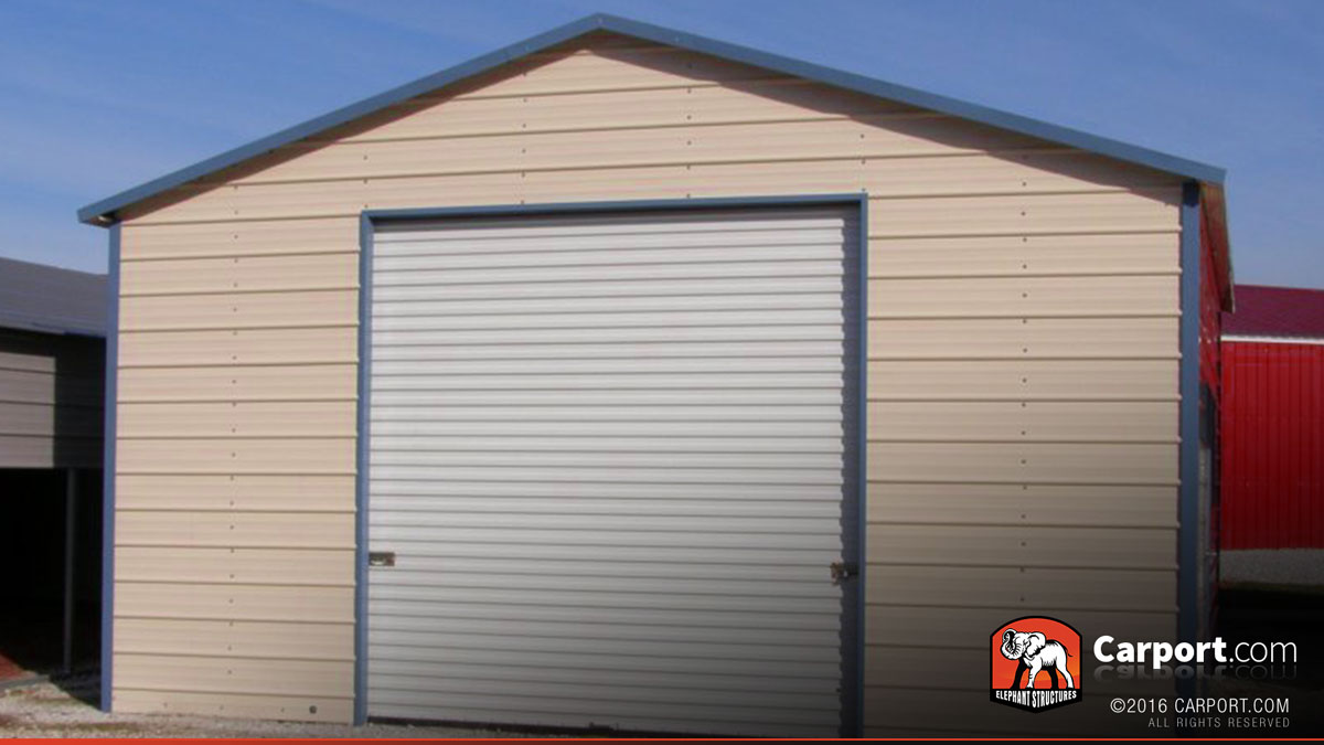 Metal Garage Boxed Eave Roof 20 X 20 Shop Buildings Online