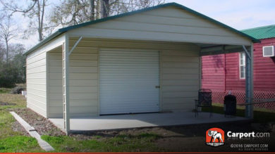 20x26 Metal Garage with Utility Storage