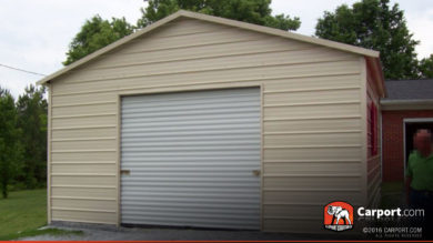 20x26 Steel Garage with Boxed Eave Roof