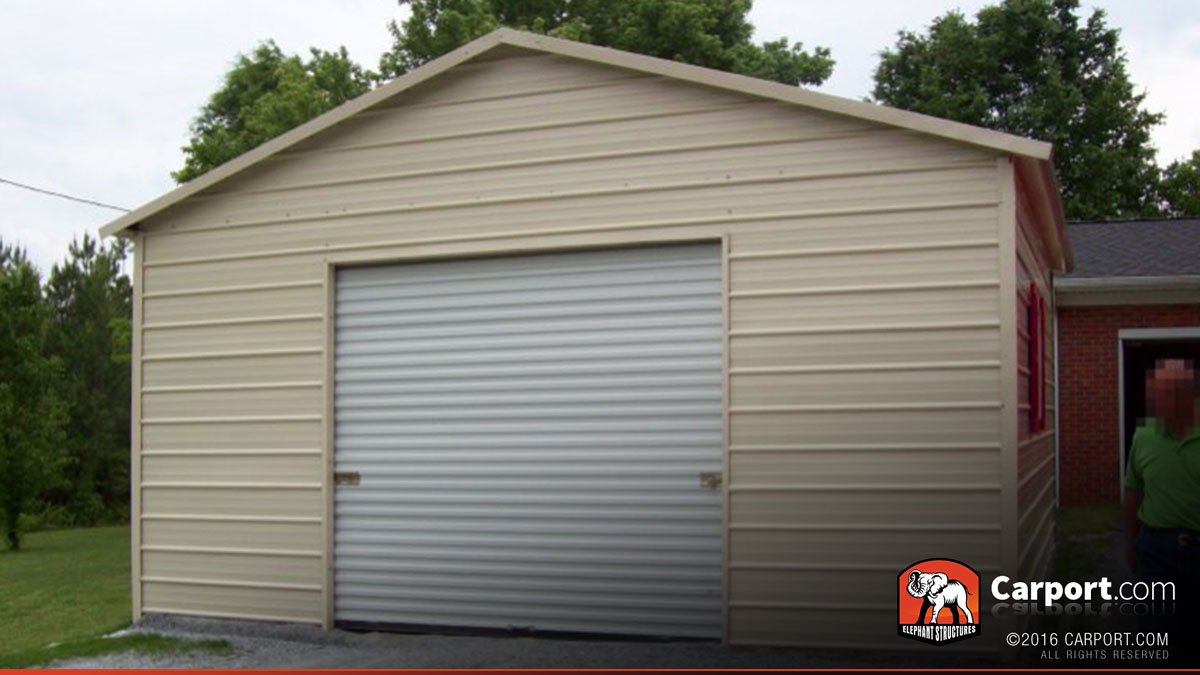 steel garage metal building 20 39 x 26 39 shop steel garages. Black Bedroom Furniture Sets. Home Design Ideas