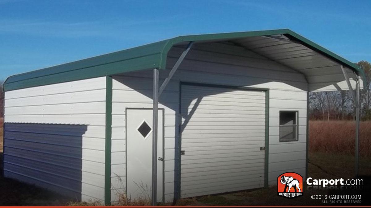 Metal garage building regular roof 20 39 x 26 39 metal for Carports online