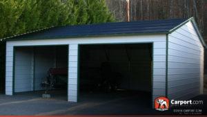 22x26 Metal Building with Two Garage Doors