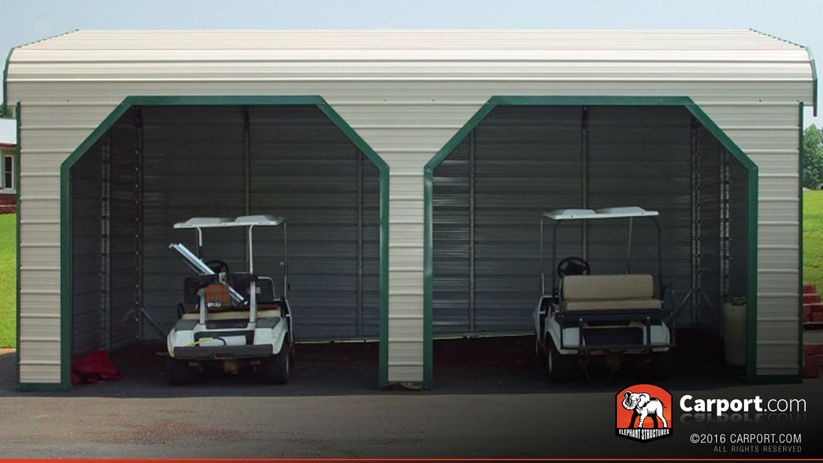 Metal garage with boxed eave roof 22 39 x26 39 shop metal for Build a garage online