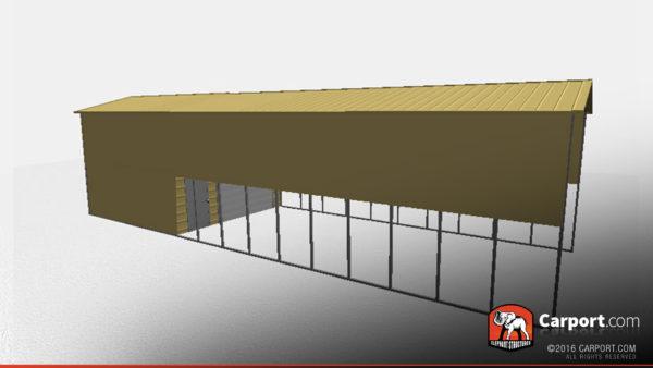 18x61 RV Storage Building Side View