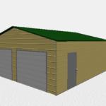 24x26 Two Car Metal Building 2